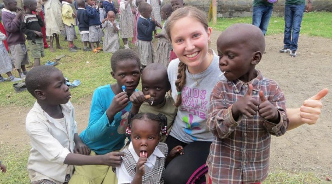 Jessica K in Kenya